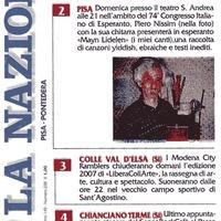 Piero Nissim canta in esperanto al 74° Congresso Italiano