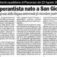 L'esperantista nato a San Giorgio. La riproposta della lingua universale fa ricordare padre Carolfi