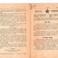 Milana Esperantisto (Gennaio 1913 - numero 1)