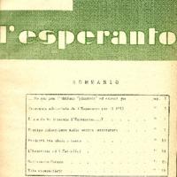 L'esperanto (anno 1950 - numero 1 - 1 nuova serie)