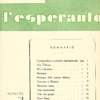 L'esperanto (anno 1951 - numero 1 - 7 nuova serie)