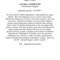 Ancora l'esperanto