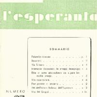 L'esperanto (anno 1954 - numero 1 - 25 nuova serie)