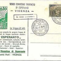 Cartolina del terzo Convegno Triveneto di Esperanto