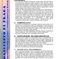 Manifesto di Praga del Movimento per la lingua internazionale Esperanto