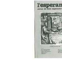 L'Esperanto (anno 1989 - numero speciale)