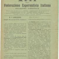 Atti della Federazione Esperantista Italiana (n° 1, anno 1)