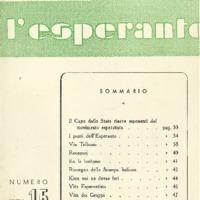 L'esperanto (anno 1952 - numero 3 - 15 nuova serie)