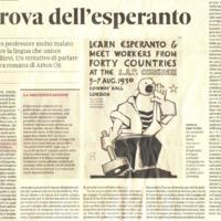 La prova dell'esperanto