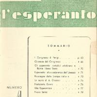 L'esperanto (anno 1950 - numero 4 - 4 nuova serie)