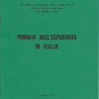Pionieri dell'Esperanto in Italia