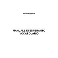 Manuale di esperanto - vocabolario