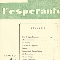 L'esperanto (anno 1952 - numero 1 - 13 nuova serie)