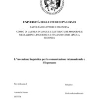 L'invenzione linguistica per la comunicazione internazionale e l'Esperanto