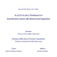 """""""La Città dell'Esperanto"""". Introduzione storica alla democrazia linguistica"""