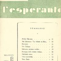 L'esperanto (anno 1951 - numero 2 - 8 nuova serie)