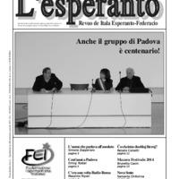L'esperanto (anno 2014 - numero 1)