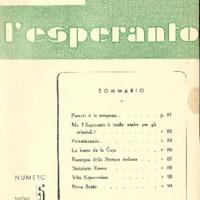 L'esperanto (anno 1950 - numero 5 - 5 nuova serie)