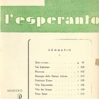 L'esperanto (anno 1950 - numero 6 - 6 nuova serie)