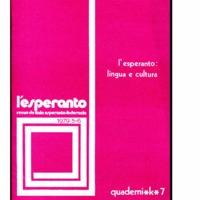 L'esperanto: lingua e cultura