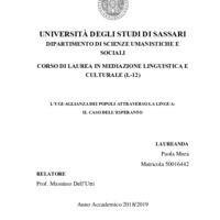 L'uguaglianza dei popoli attraverso la lingua: il caso dell'esperanto