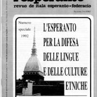 L'Esperanto (anno 1992 - numero speciale)