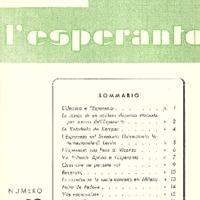 L'esperanto (anno 1953 - numero 1 - 19 nuova serie)