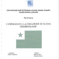 L'Esperanto e la creazione di nuove terminologie