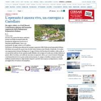 L'esperanto è ancora vivo, un convegno a Castellaro