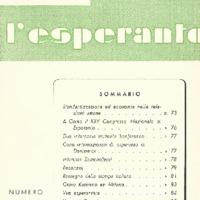 L'esperanto (anno 1952 - numero 6- 18 nuova serie)