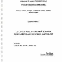 Mazzero, M_Tesi_Le lingue nella CE ... riguardo a inglese 1991 264.pdf