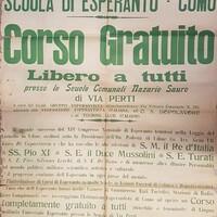 Scuola di esperanto, Como: corso gratuito libero a tutti