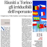 Riuniti a Torino gli irriducibili dell'esperanto