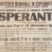 Corsi pubblici serali di lingua ausiliare Esperanto autorizzati  e controllati dall'Autorità Scolastica