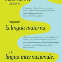 Tutti hanno diritto di imparare la lingua materna e la lingua internazionale