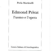 Edmond Privat: l'uomo e l'opera