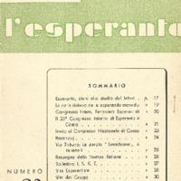 L'esperanto (anno 1953 - numero 2 - 20 nuova serie)