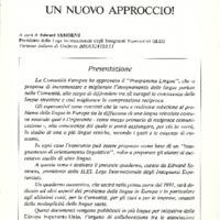 L'Esperanto (anno 1990 - numero speciale) - Studiare le lingue straniere: un nuovo approccio!