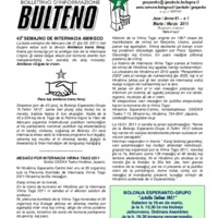 Informa Bulteno (marzo 2011)