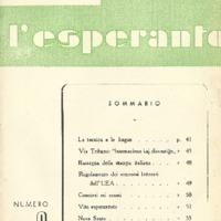 L'esperanto (anno 1951 - numero 3 - 9 nuova serie)