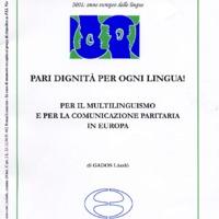 L'Esperanto (anno 2001 - numero 3)