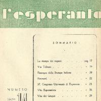 L'esperanto (anno 1952 - numero 2 - 14 nuova serie)