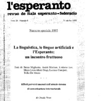 L'Esperanto (anno 1995 - numero speciale)