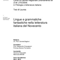 Lingue e grammatiche fantastiche nella letteratura italiana del Novecento