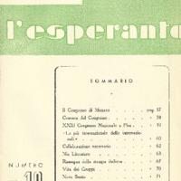 L'esperanto (anno 1951 - numero 4 - 10 nuova serie)