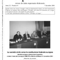 L'esperanto (anno 2001 - numero 9)