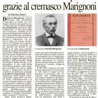 La diffusione dell'Esperanto grazie al cremasco Marignoni
