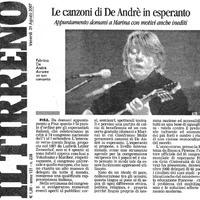 Le canzoni di De Andrè in esperanto