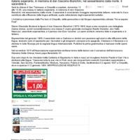 Raduno degli esperantisti a ricordo di don Bianchini