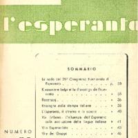 L'esperanto (anno 1953 - numero 3 - 21 nuova serie)